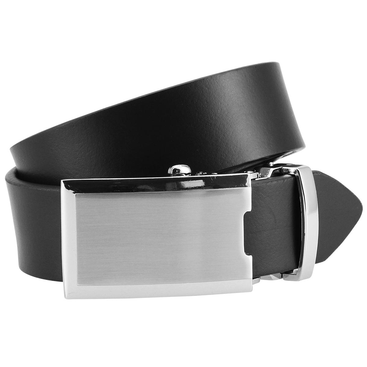 Lindenmann Ledergürtel Anzug Gürtel schwarz Automatik Koppelschnalle 1005001 schwarz