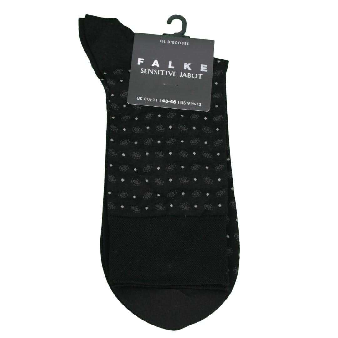 Falke Sensitive Socke Jabot schwarz gemustert 13344 3000
