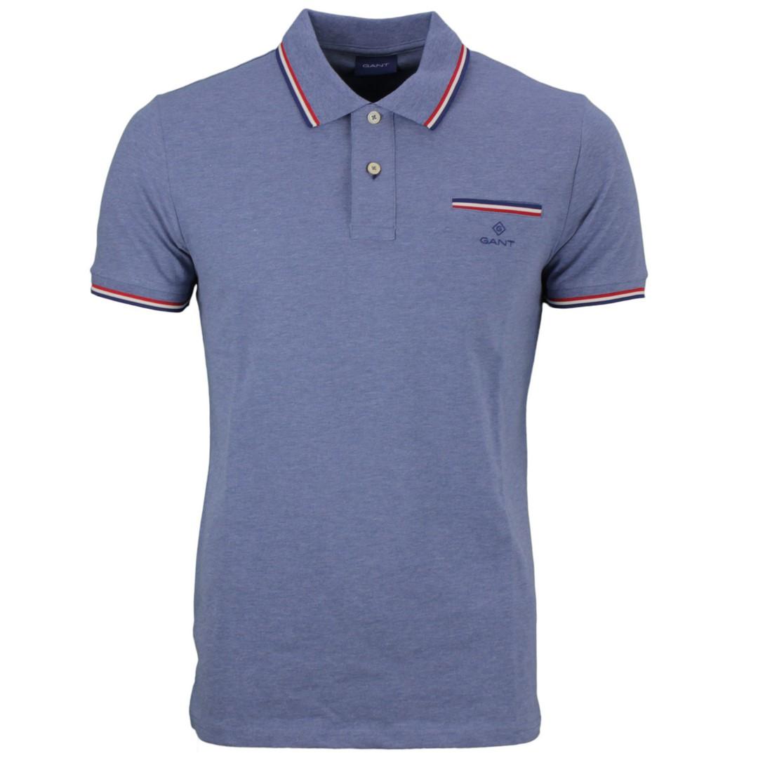 Gant Herren Polo Shirt blau unifarben 2052002 906