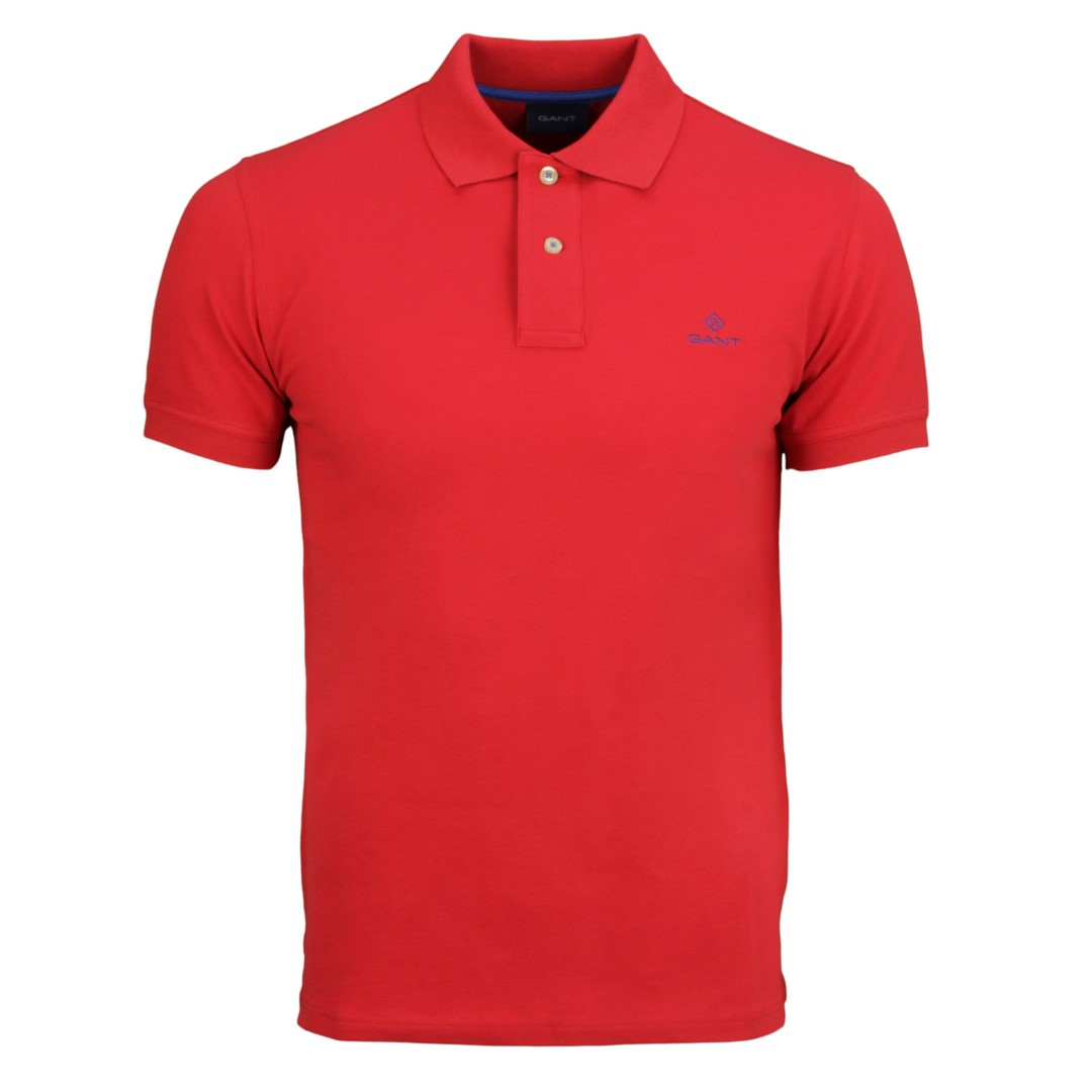 Gant Polo Shirt Contrast Collar Pique Rugger rot 2052003 620 bright red