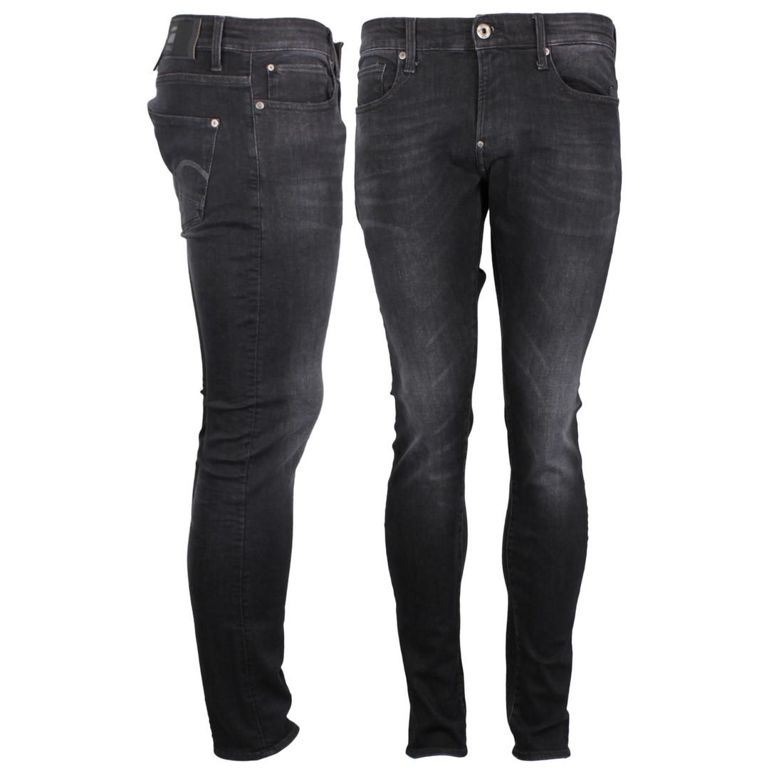 G-Star Herren Jeans Hose Jeanshose Extra Slim Fit Revend Skinny schwarz 51010 A634 A592