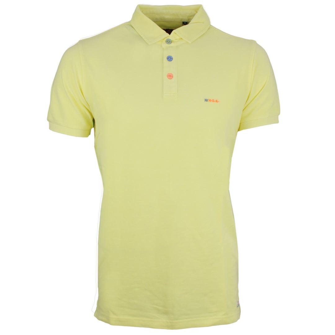 New Zealand Auckland NZA Polo Shirt gelb unifarben 20CN150 450 gelb