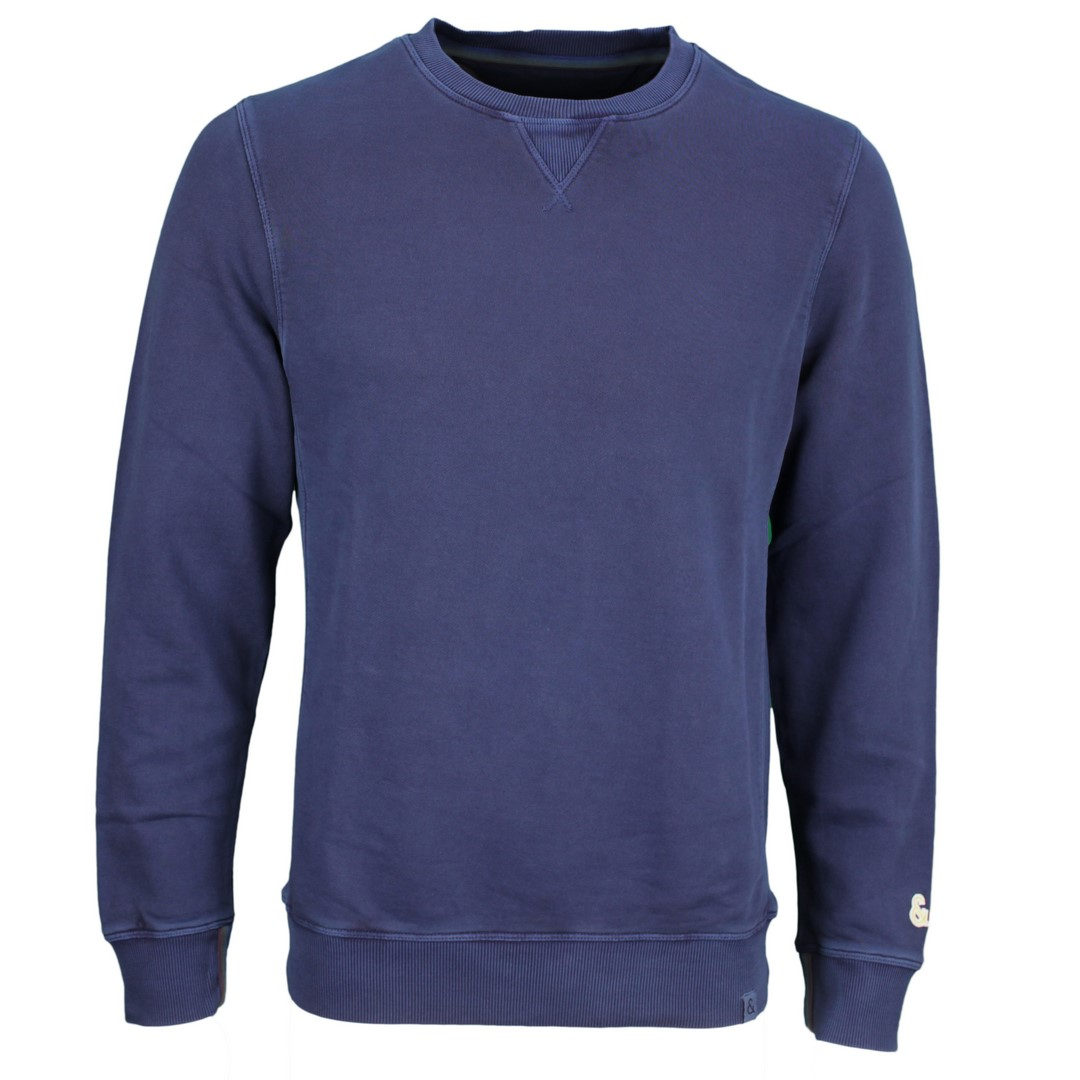 Colours & Sons Herren Sweat Pullover Pulli dunkel blau unifarben 9121 420 699 midnight