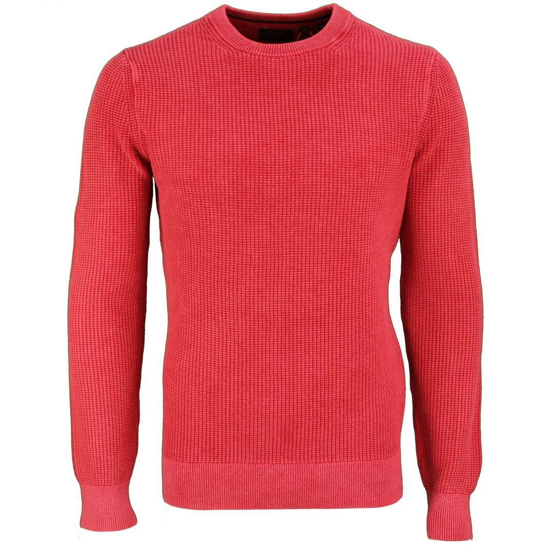 Superdry Strickpullover Pullover rot Academy Dyed Textured Crew M6110283A 6JL red
