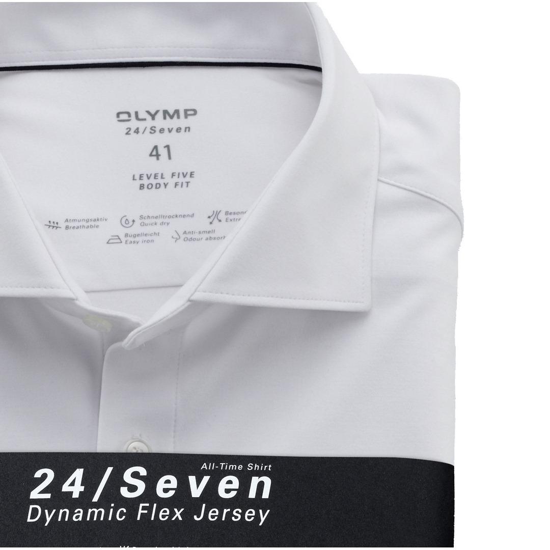 Olymp Level Five 24/Seven Dynamic Flex Jersey Body Fit Hemd Businesshemd 200684 00 weiß