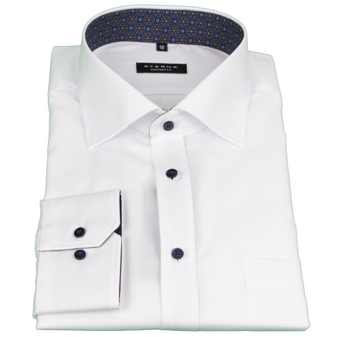 Eterna Herren Hemd Comfort Fit weiß unifarben 1303 E37R 00