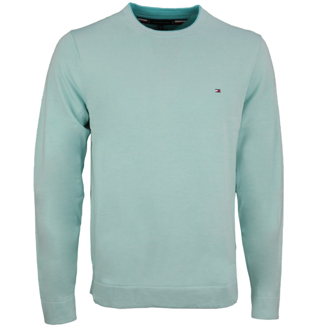 Tommy Hilfiger Strick Pullover Tipped Double Face grün MW0MW17349 L4T Oxygen