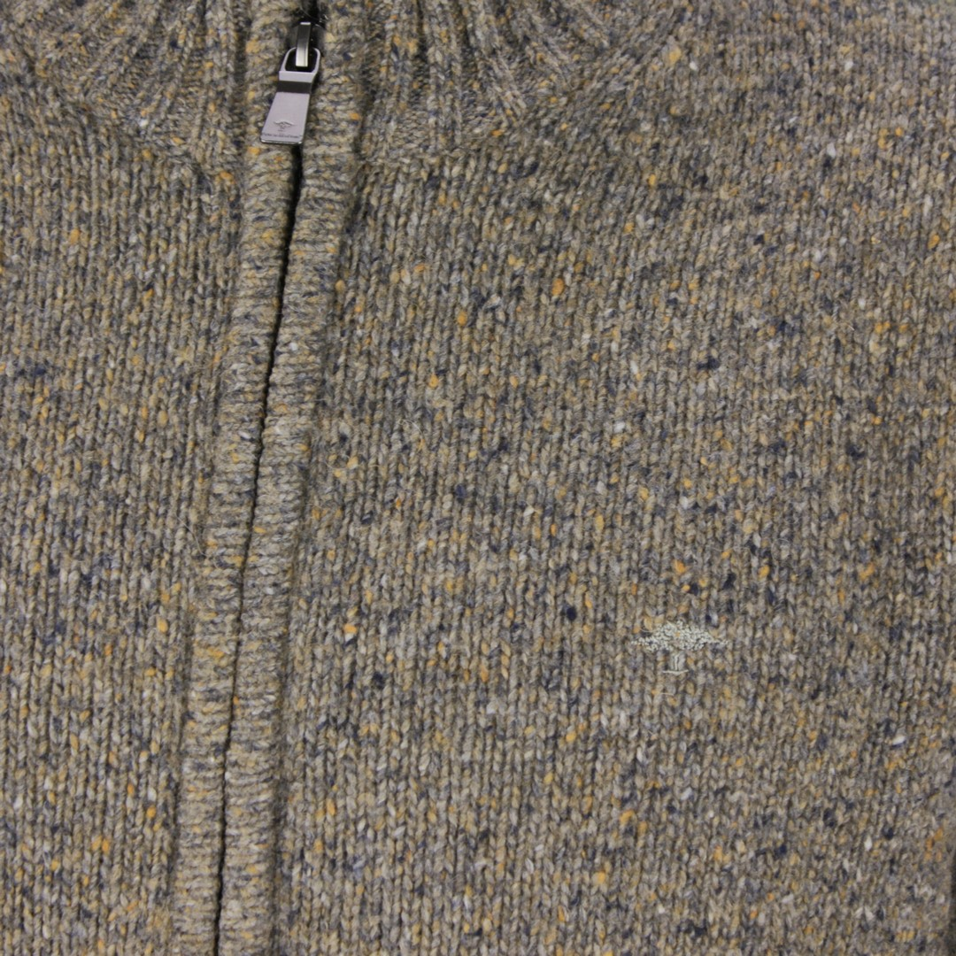 Fynch Hatton Herren Strick Strickjacke braun grau meliert 1220403 819 antique