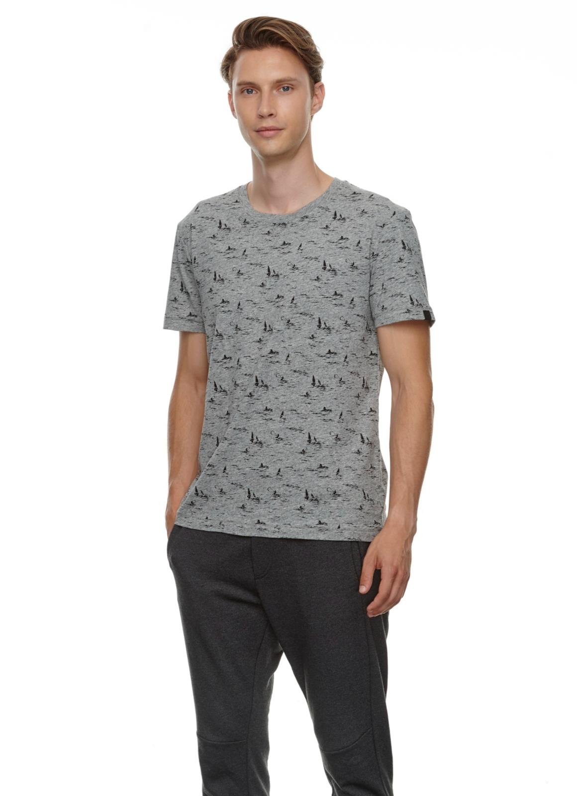 Ragwear Herren T-Shirt Dami grau Allover Print 2112 15011 3000 grey