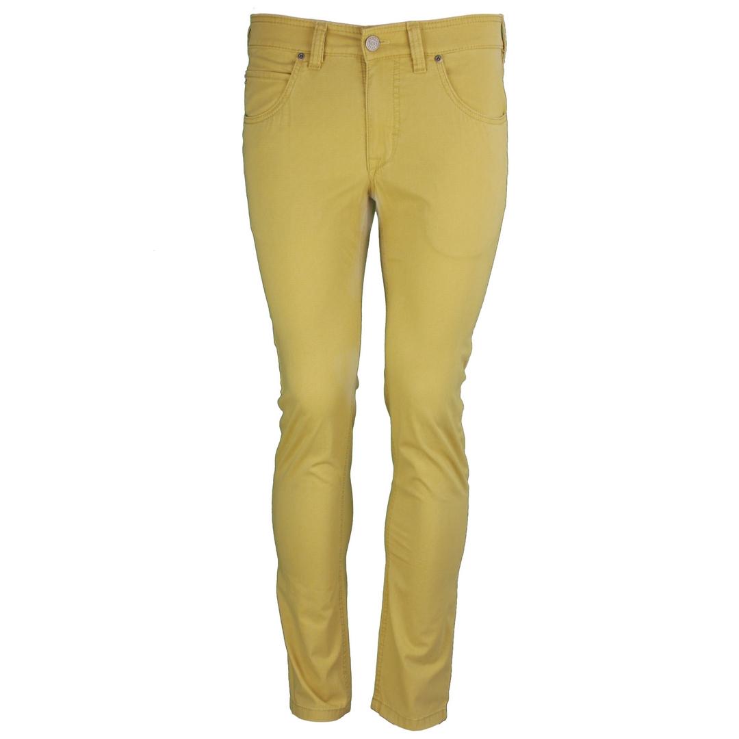 Gardeur Herren Jeans Hose Jeanshose gelb Modern Fit fein gemustert BILL-3 411571 42