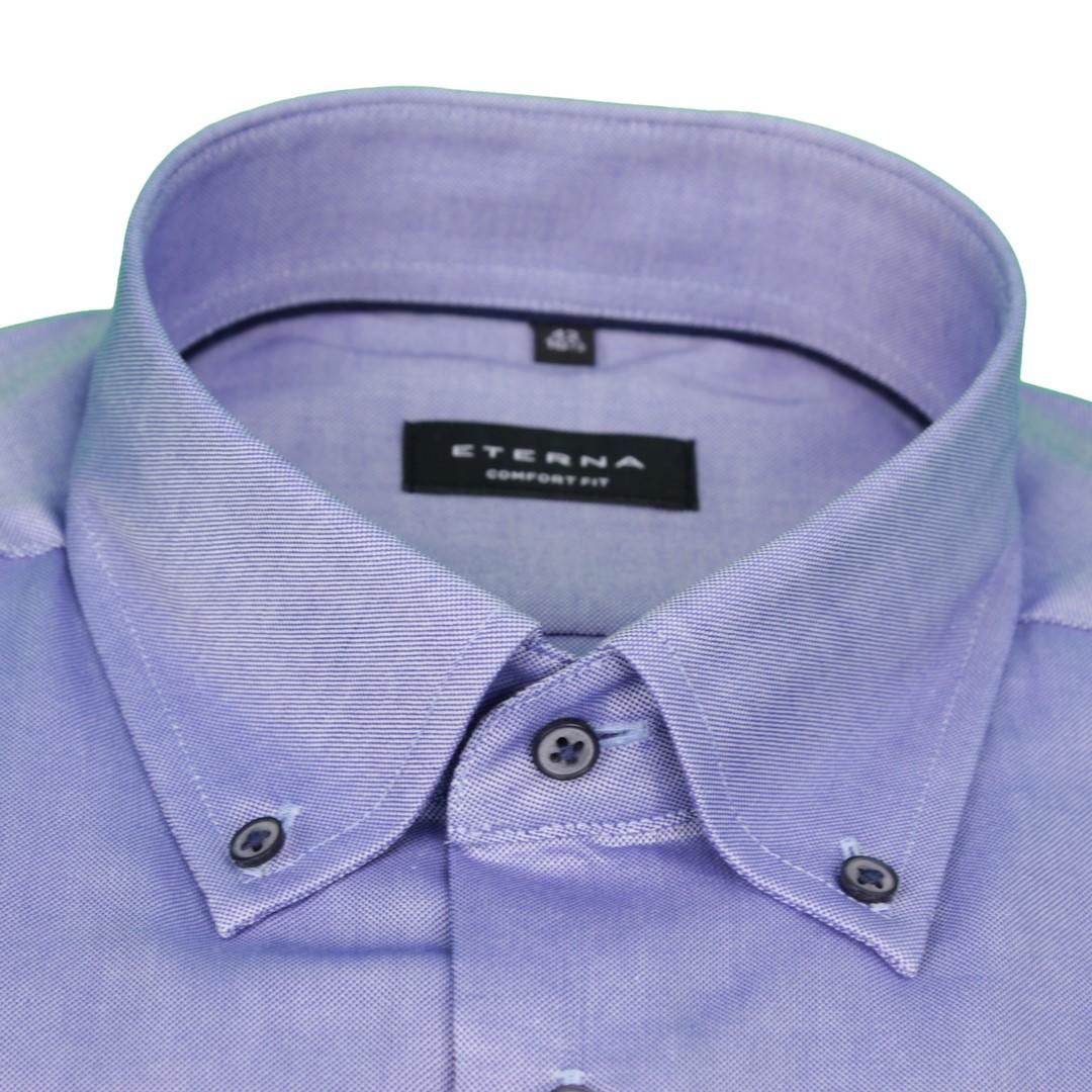 Eterna Herren Hemd Comfort Fit blau unifarben 2080 E19L 16
