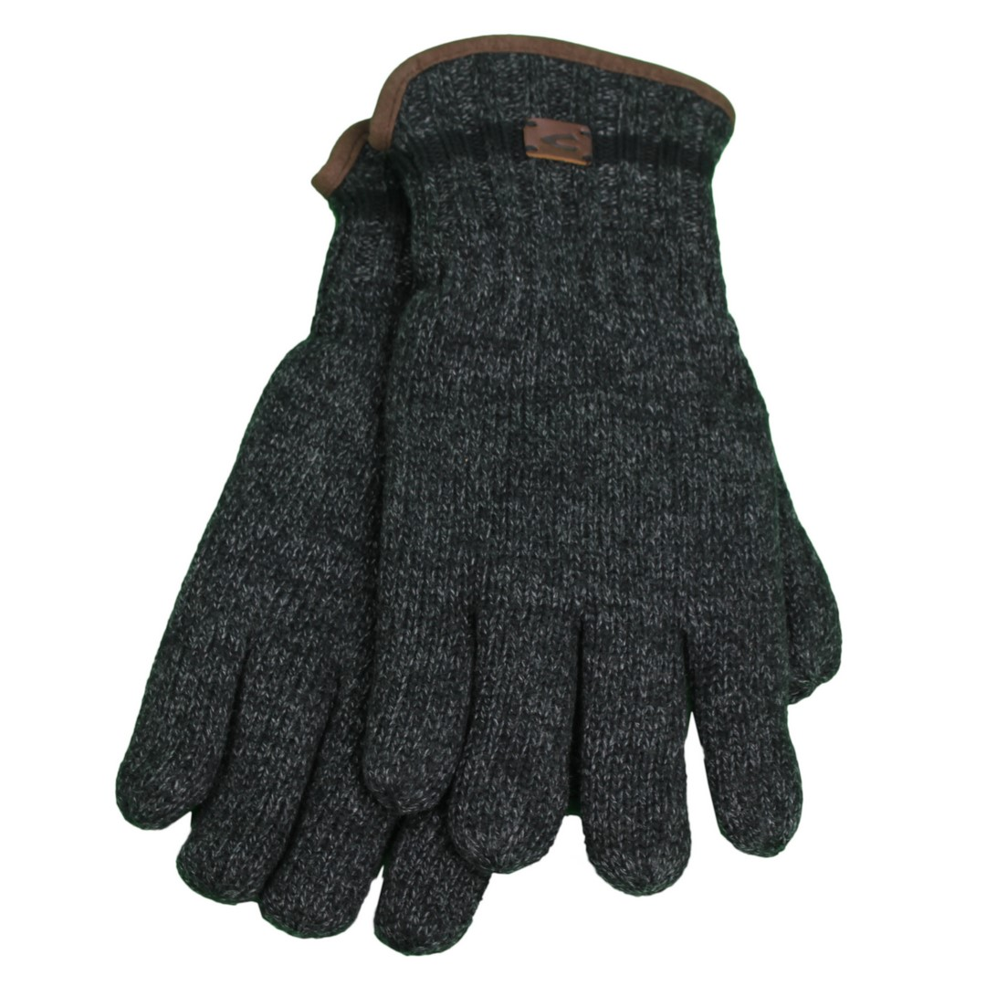 Camel active Herren Handschuhe schwarz meliert 2G31 408310 08