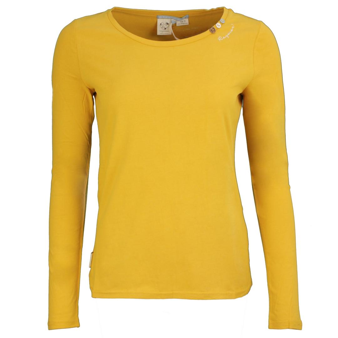 Ragwear Damen Langarmshirt gelb Florah Long A Organic 2121 25016 6042 Honey