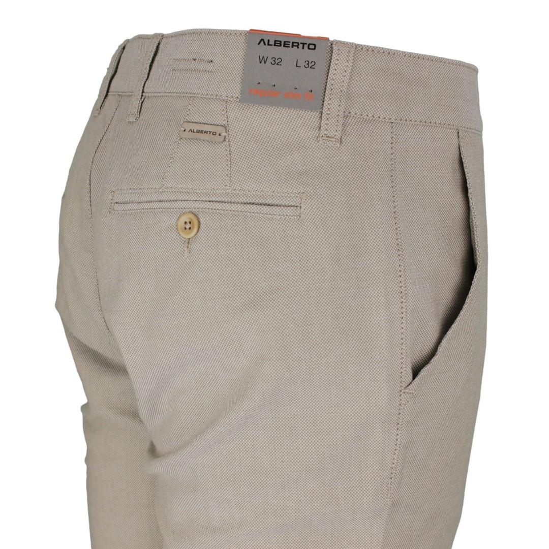 Alberto Chino Hose Regular Slim Fit beige braun gemustert 5987 1918 525