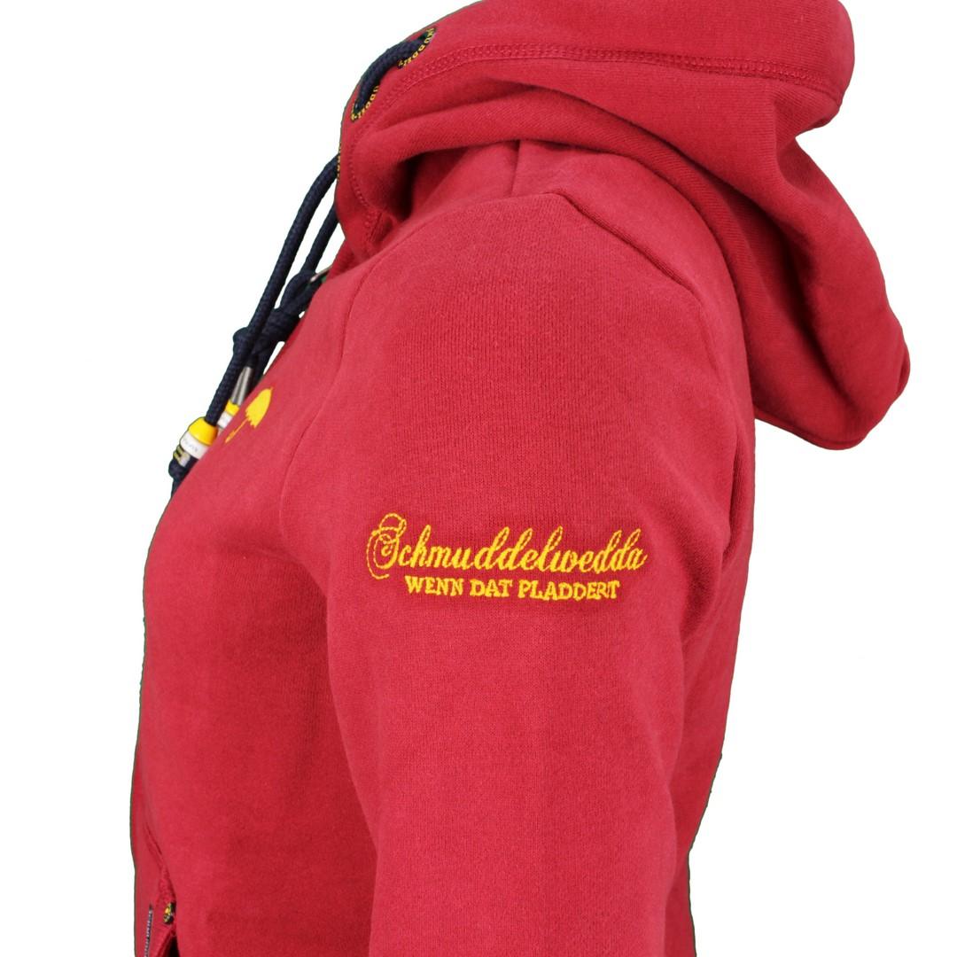 Schmuddelwedda Damen Sweat Jacke rot unifarben 34612153 rot