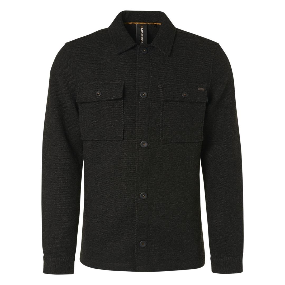No Excess Overshirt Hemd Hemdjacke Jacke schwarz 12410813 020 black