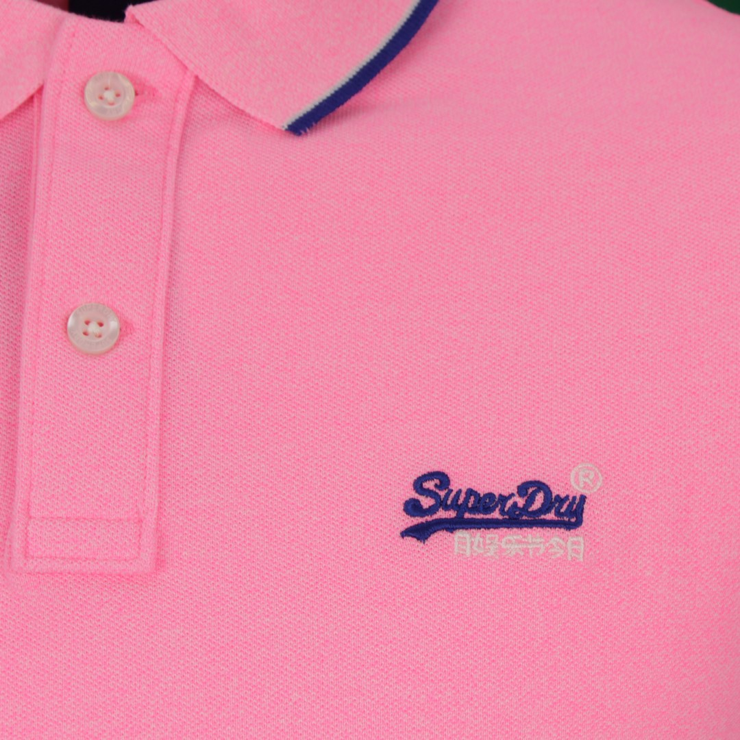 Superdry Herren Polo Shirt Pool Side Piqué pink M1110013A W3W pink