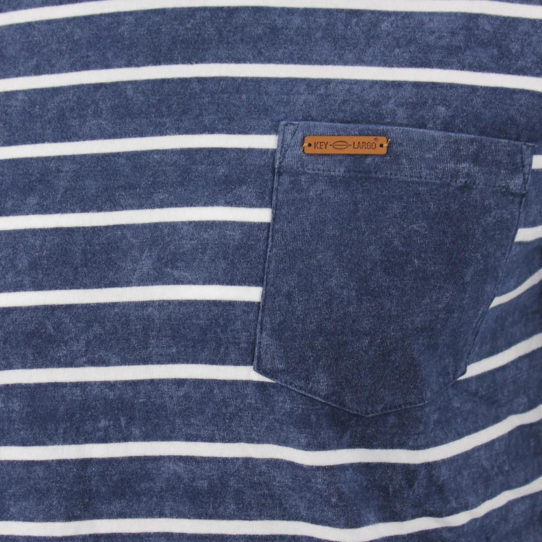 Key Largo Herren T-Shirt blau weiß gestreift MT DEFENCE dark blue