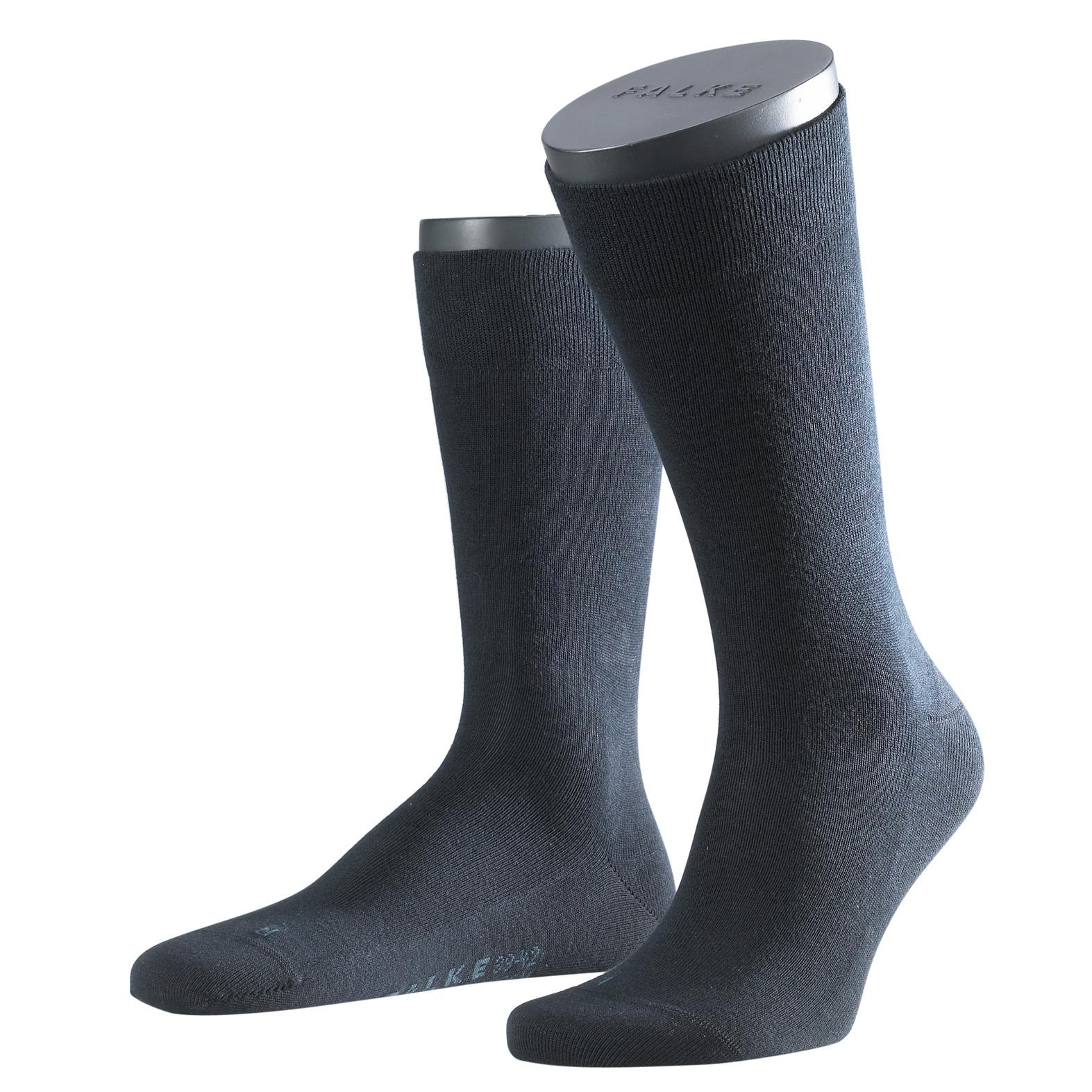 Falke Sensitive Socke London marine blau 14616 - 6370 Basic Baumwolle