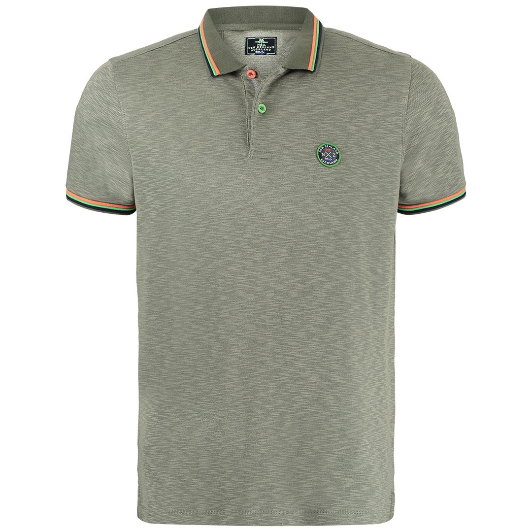 New Zealand Auckland NZA Polo Shirt Khaki grün 21CN119 500