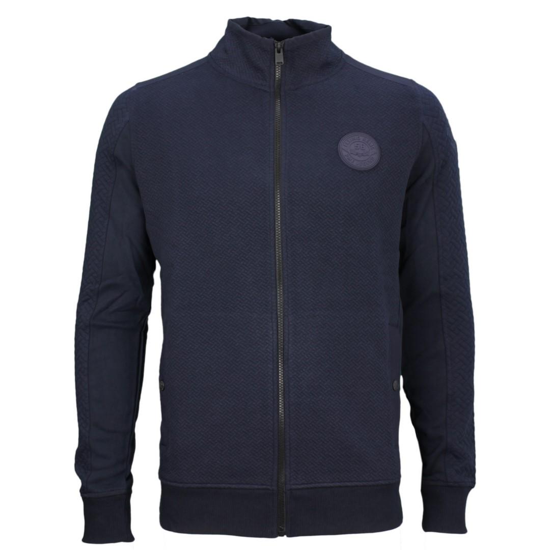 PME Legend Herren Sweat Jacke blau strukturiert PSW205406 5288