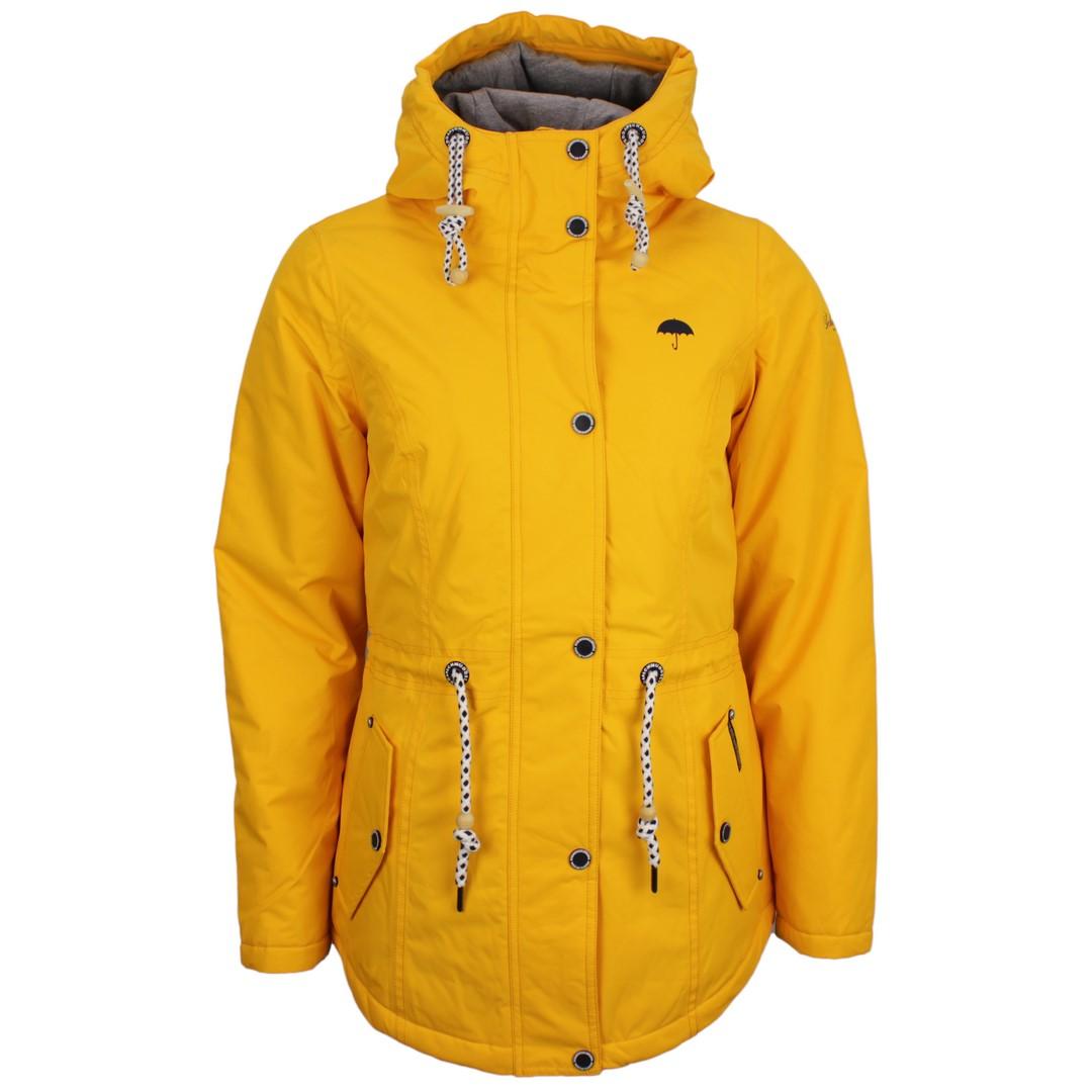 Schmuddelwedda Damen Regen Jacke gelb unifarben 34308187 senf