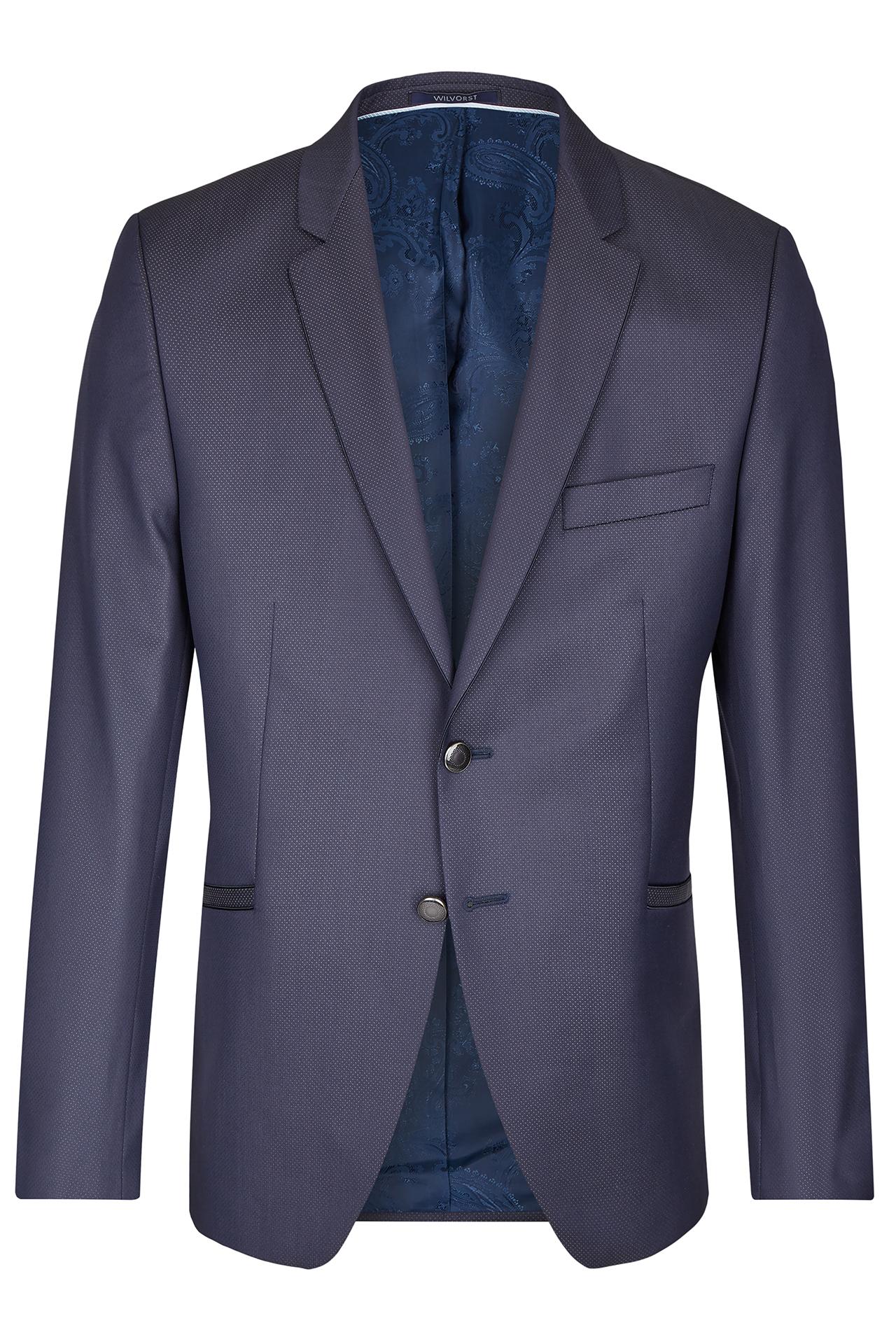 Wilvorst Herren Baukasten Hochzeitsanzug Drop8 blau Gemustert 491100 034