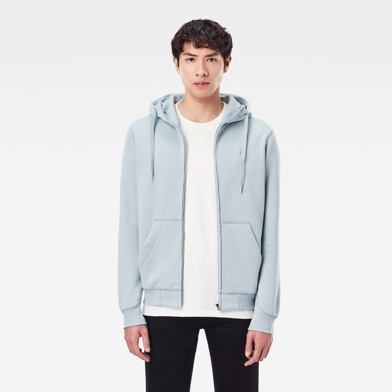 G-Star Raw Sweat Jacke Premium Basic Hooded Zip blau D16122 C235 6481 faze blue