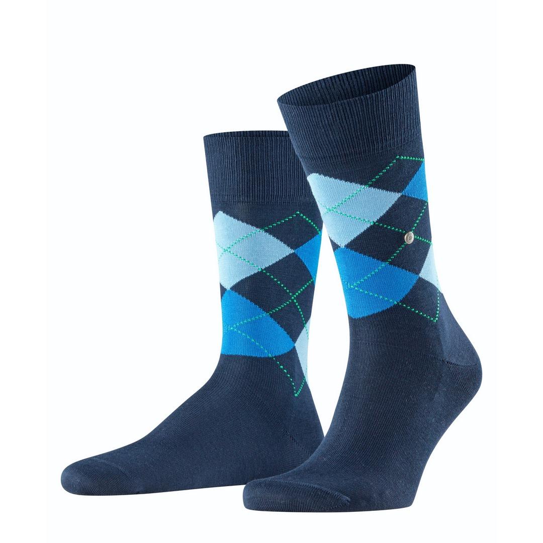 Falke Socken marine Argyle Muster Manchester 20182 6120