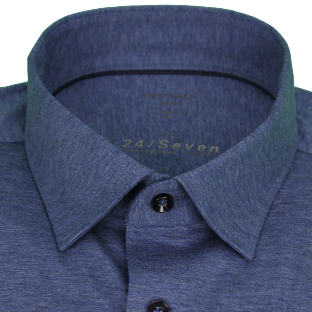 Olymp Hemd 24/Seven Seven Dynamic Flex Jersey All Time Shirt blau 120264 13