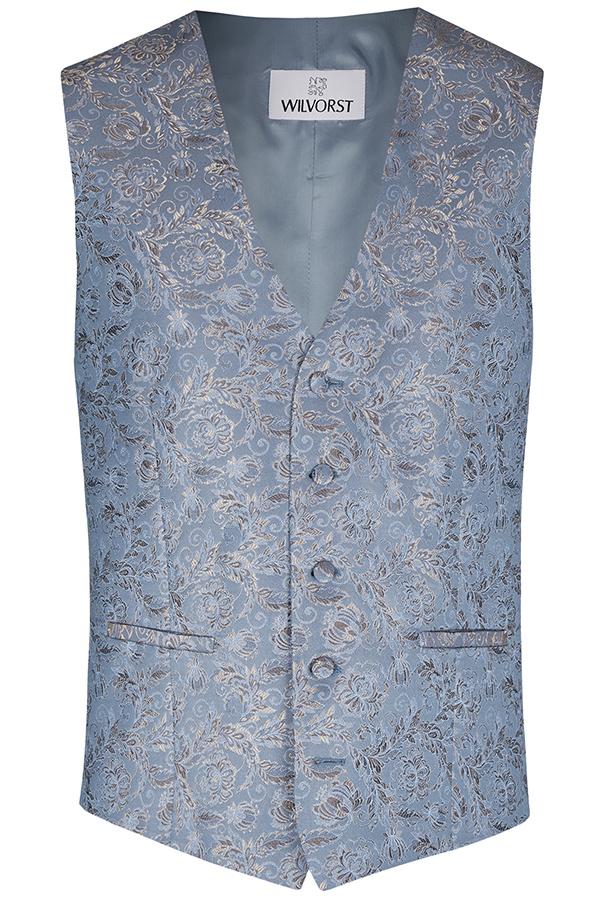 Wilvorst Weste Hochzeitsanzug After Six blau Paisley Muster 417117 87 038