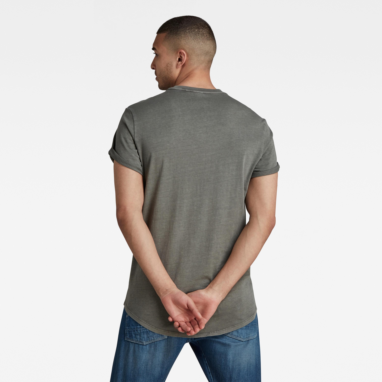 G-Star Raw Herren T-Shirt Shirt kurzarm Lash grau unifarben D16396 2653 C496