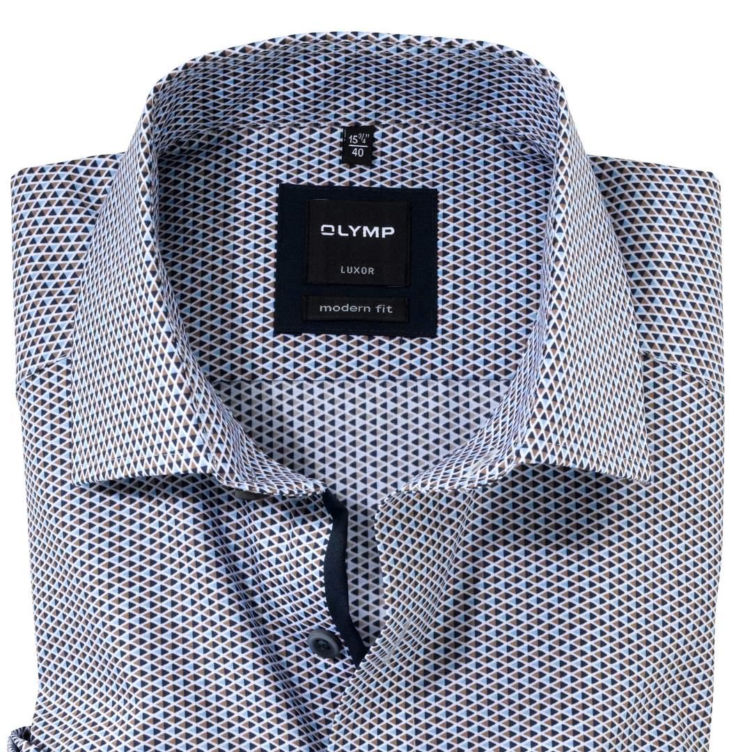 Olymp Luxor Hemd Extra langer Arm Businesshemd Modern fit Green Choice 127084 28 braun