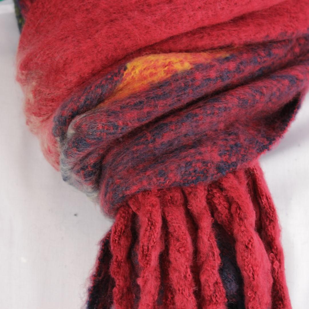 Anerkjendt Winter Schal Mehrfarbig kariert 9518801 flame scalet