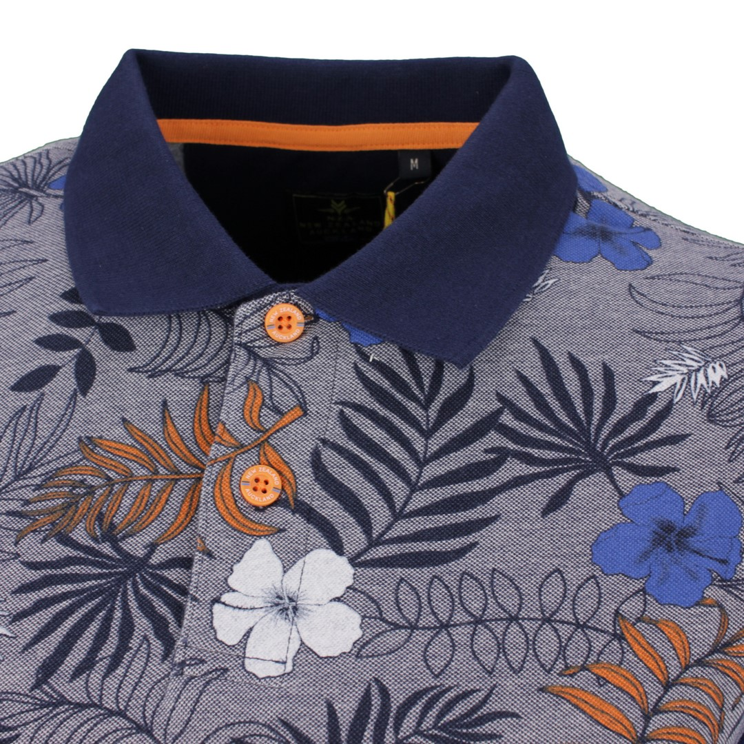 New Zealand Auckland NZA Polo Shirt mehrfarbig gemustert 21BN102 281 Native Navy