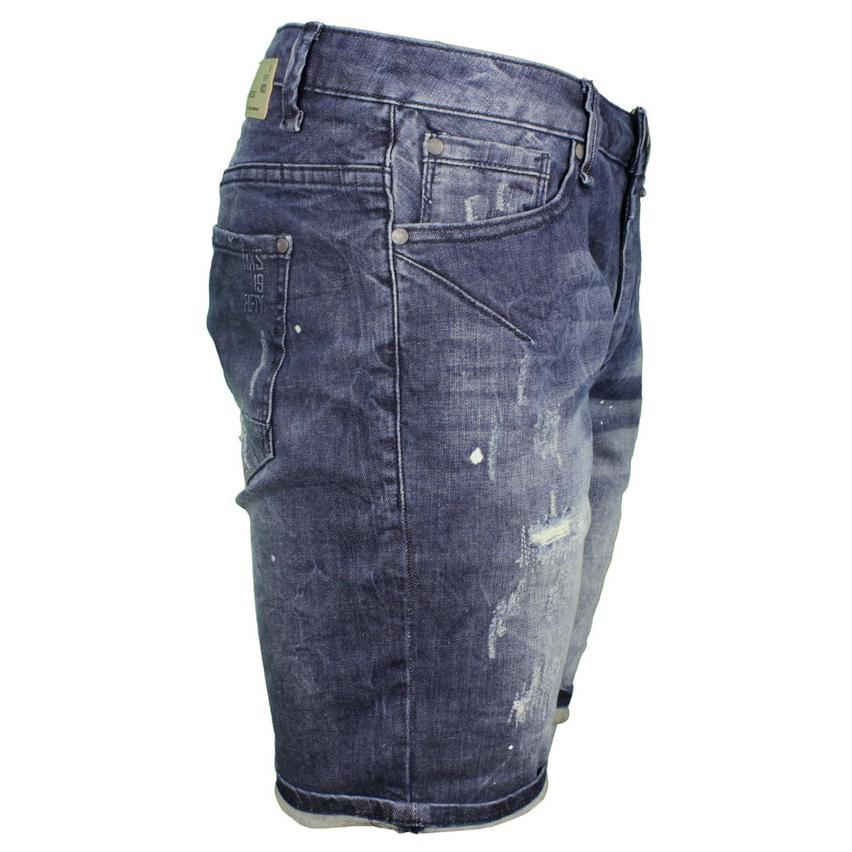 No Excess Herren Jeans Short Denim Used Look blau 858190304 220
