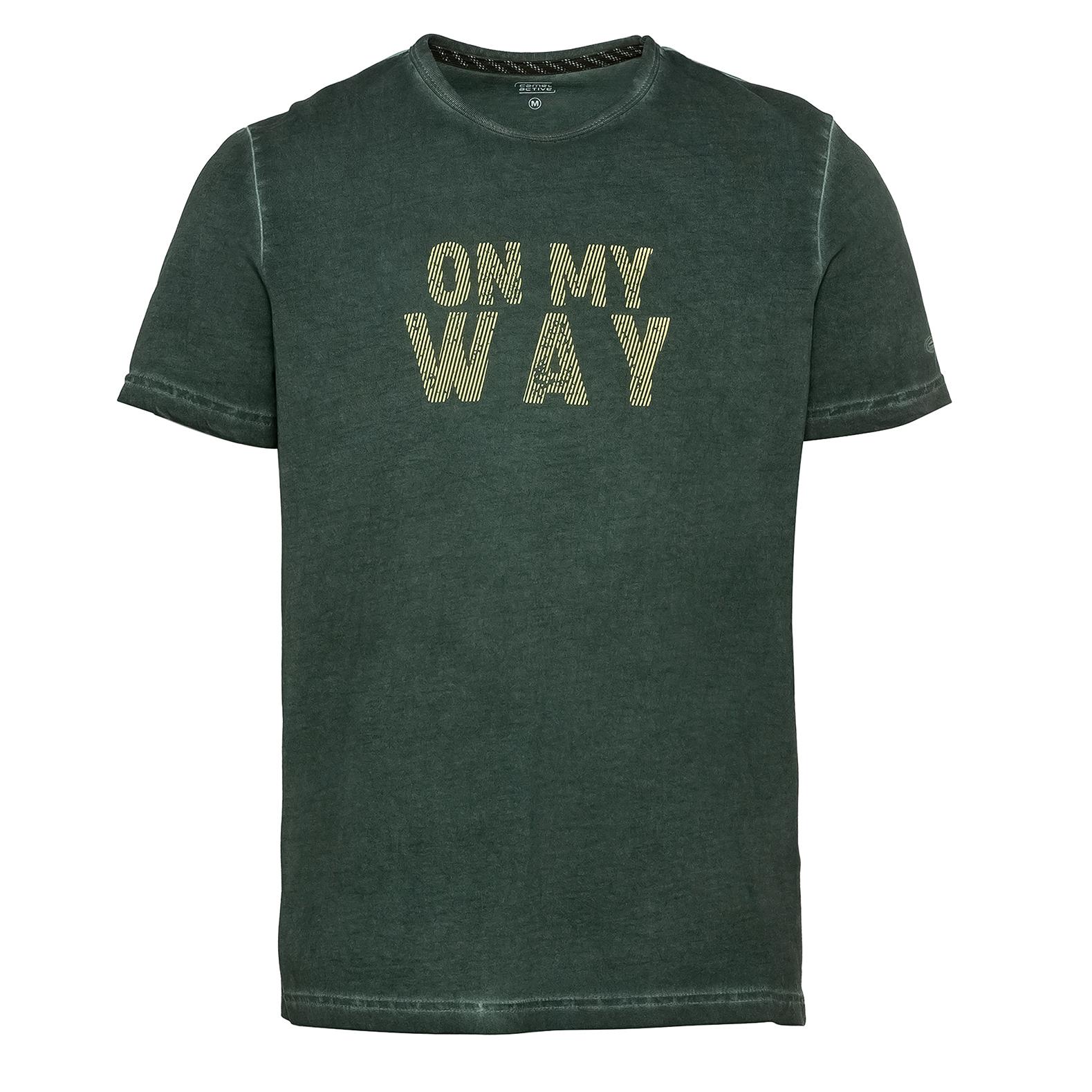 Camel active Herren T-Shirt Shirt kurzarm dunkel grün Print 5T27409643 35
