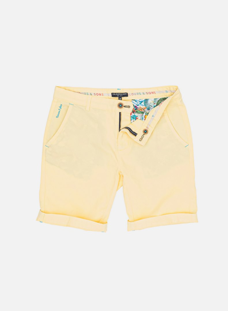 Colours & Sons Basic Chino Shorts gelb unifarben 9121 998 100
