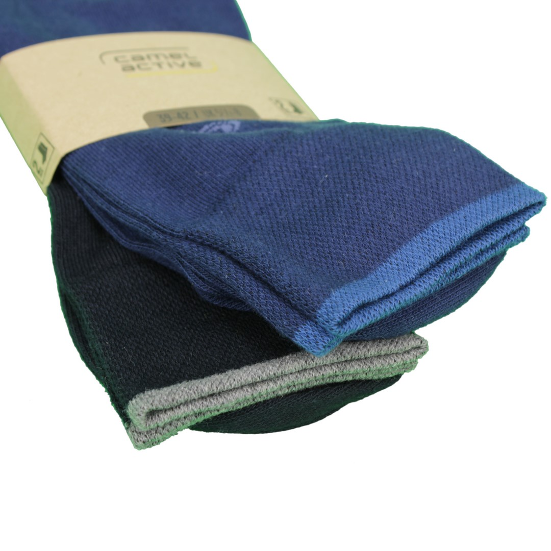 Camel active Socken Doppelpack in blau marine 6438 39B