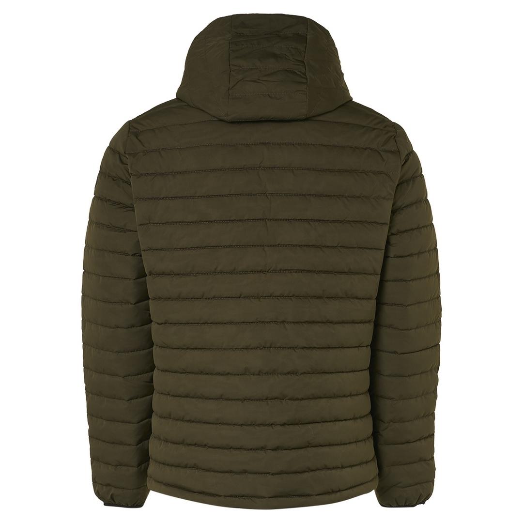 No Excess Herren Jacke Steppjacke braun unifarben  Jacket Short Fit Hooded Padded 12630805 195 basil