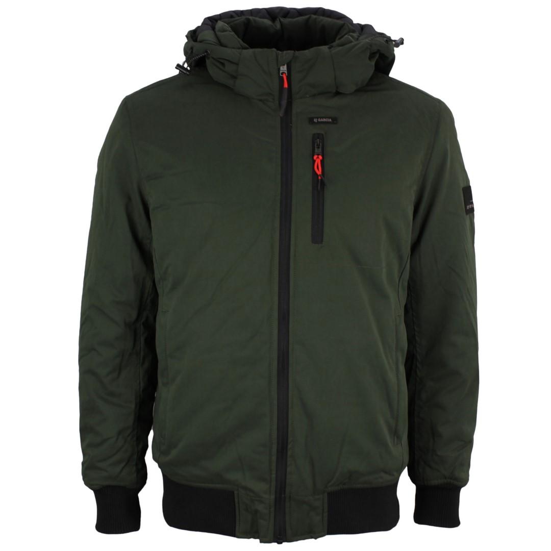 Garcia Herren Winter Jacke grün unifarben GJ010917 3157 Brunswick