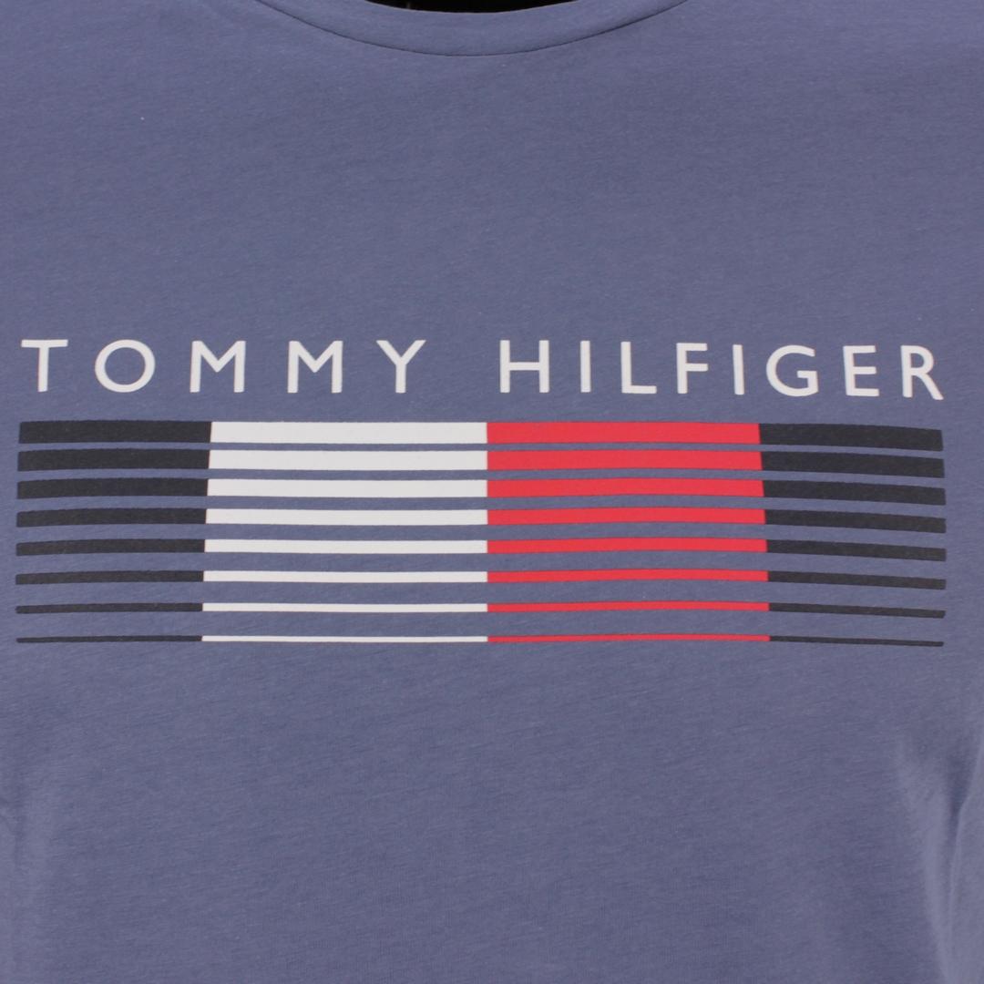 Tommy Hilfiger T-Shirt Fade Graphic Corp Tee blau MW0MW21008 C9T Faded indigo