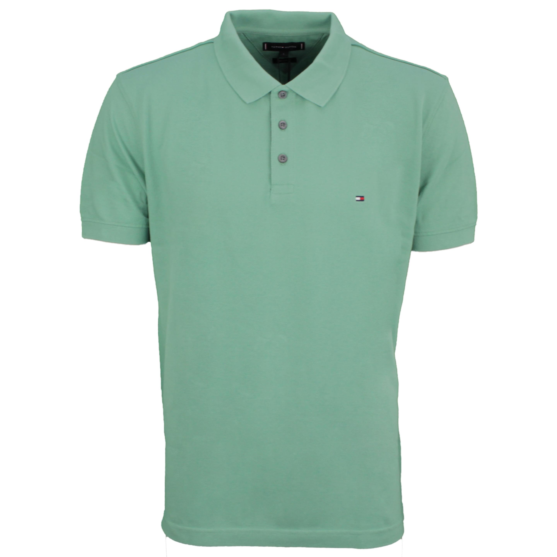 Tommy Hilfiger Polo Shirt Contrast Placket grün MW0MW19379 L3I green