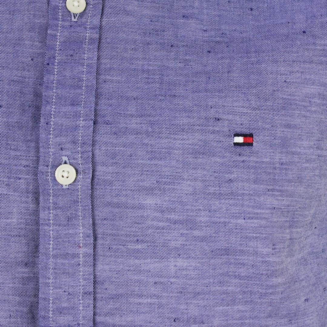 Tommy Hilfiger Herren Hemd blau unifarben MW0MW12761 C7H