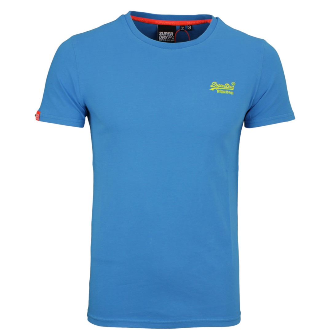 Superdry Herren T-Shirt Orange Label Neon Lite blau M1010026A 89G blue