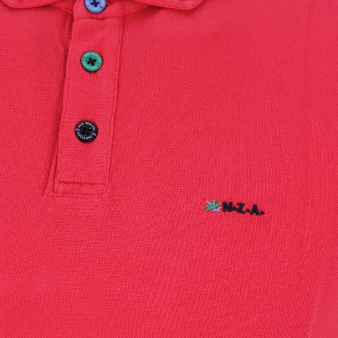New Zealand Auckland NZA Polo Shirt rot unifarben 20CN150 287 red