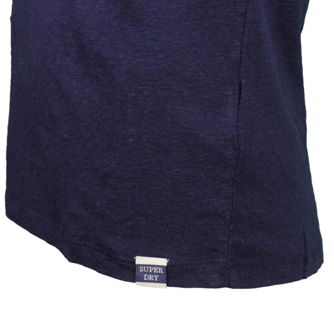 Superdry Damen Top Shirt Chevron Lace Vest marine blau W6010147A GKV navy