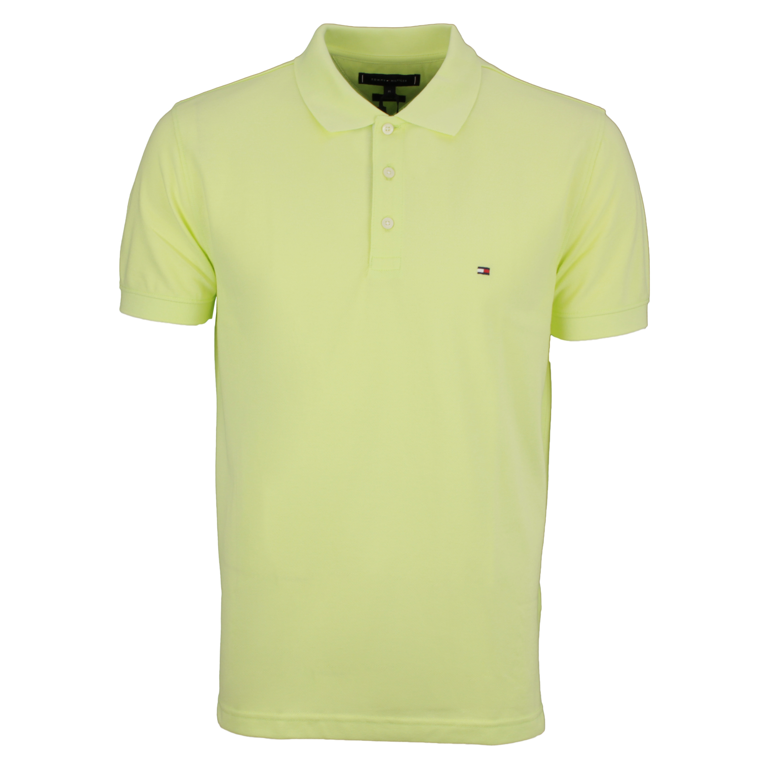 Tommy Hilfiger Polo Shirt Contrast Placket gelb MW0MW19379 ZQL-yellow