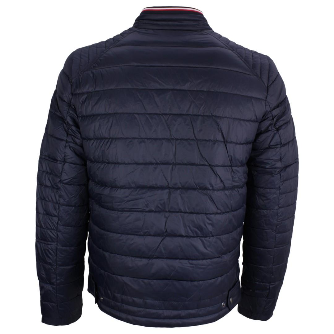 Tommy Hilfiger Herren Winter Jacke blau gesteppt MW0MW13739 DW5