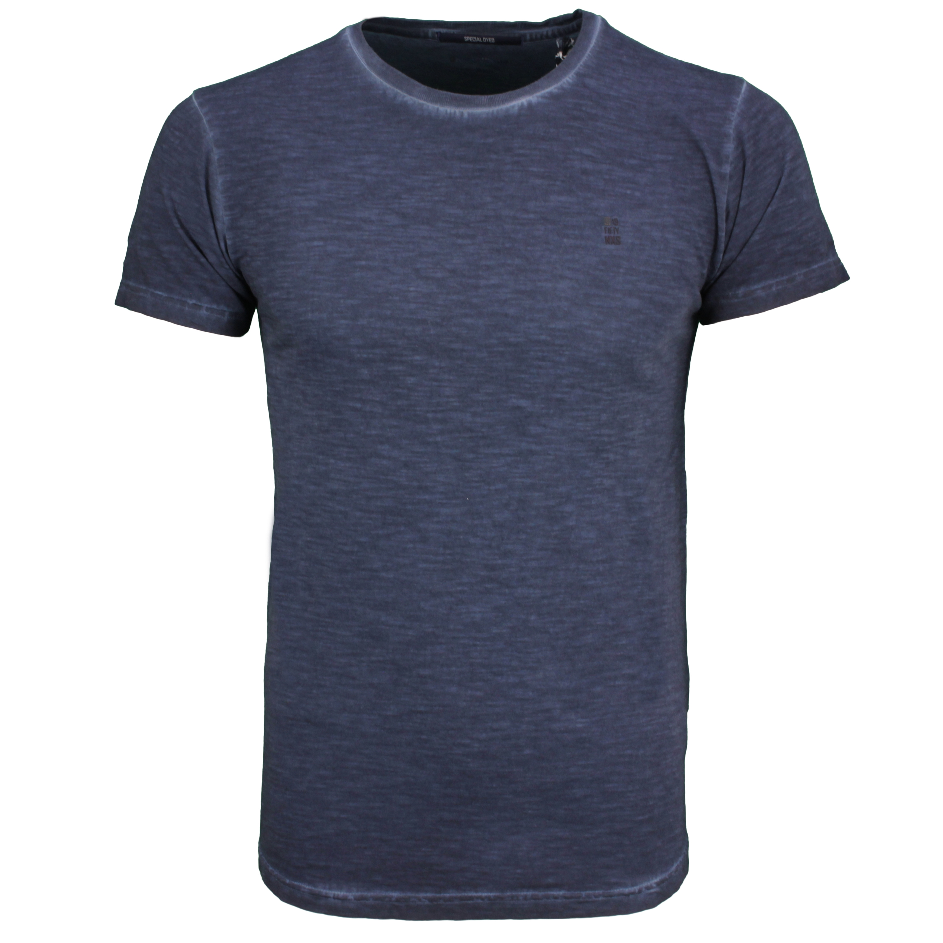 No Excess Herren T-Shirt Shirt kurzarm blau unifarben 96350419 078